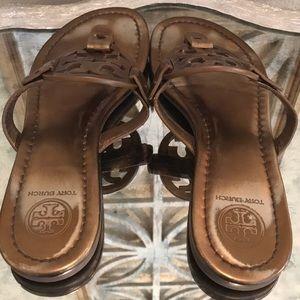 Tory Burch Shoes - TORY BURCH MILLER COPPER  BRONZE PATENT SZ 6